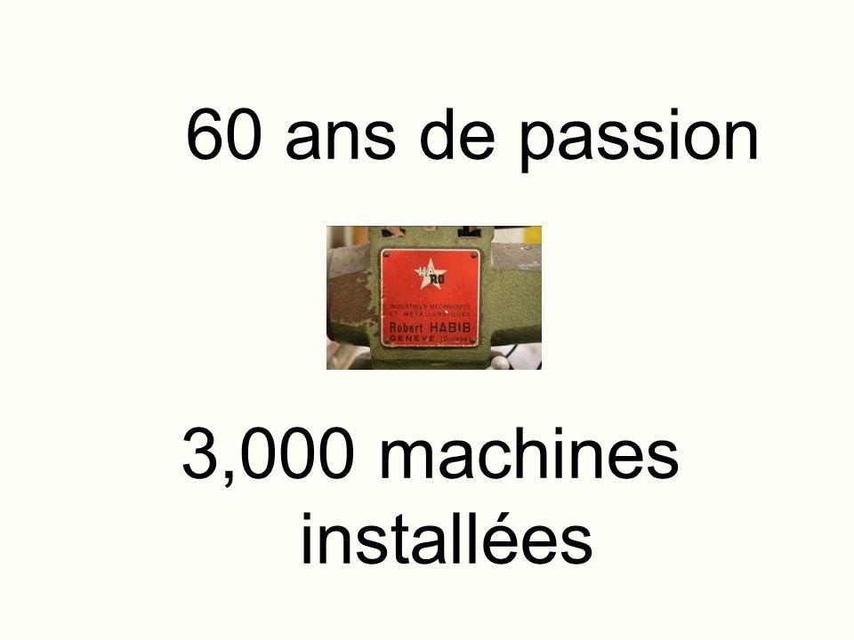 60 ans de passion 3,000 machines installées