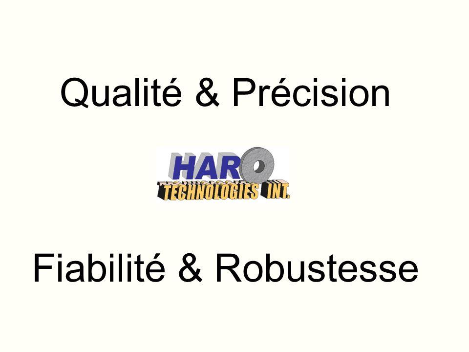 Qualité & Précision Fiabilité & Robustesse