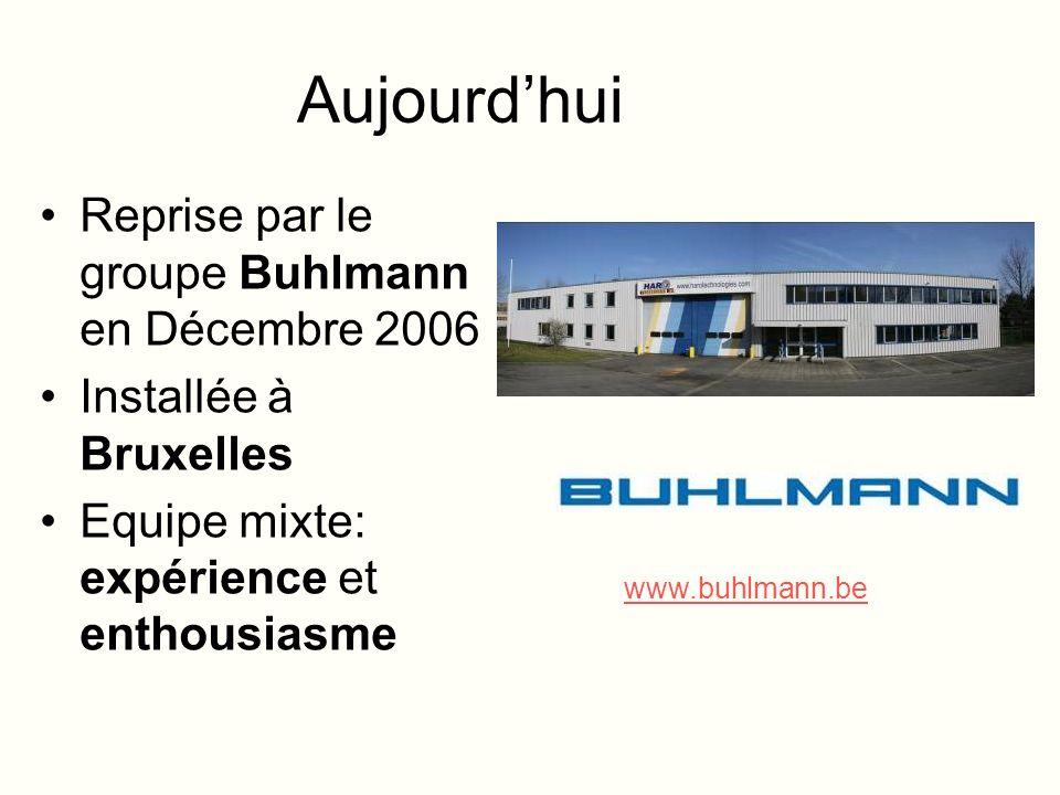 Aujourdhui Reprise par le groupe Buhlmann en Décembre 2006 Installée à Bruxelles Equipe mixte: expérience et enthousiasme www.buhlmann.be