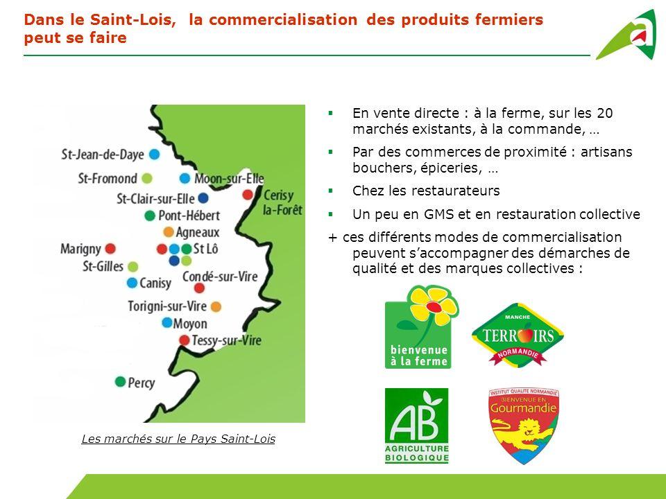 Dans le Saint-Lois, la commercialisation des produits fermiers peut se faire En vente directe : à la ferme, sur les 20 marchés existants, à la command
