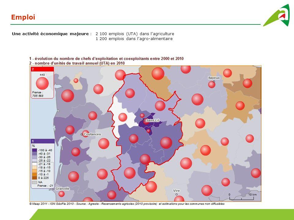 Des espaces agricoles utilisés pour la production de ressources fourragères 60 % herbe (34 % en PP, 26 % en PT) 25 % en maïs 13 % en céréales (source PAC 2009)