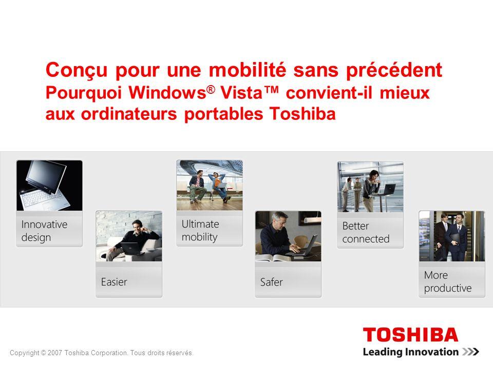 Copyright © 2007 Toshiba Corporation. Tous droits réservés.