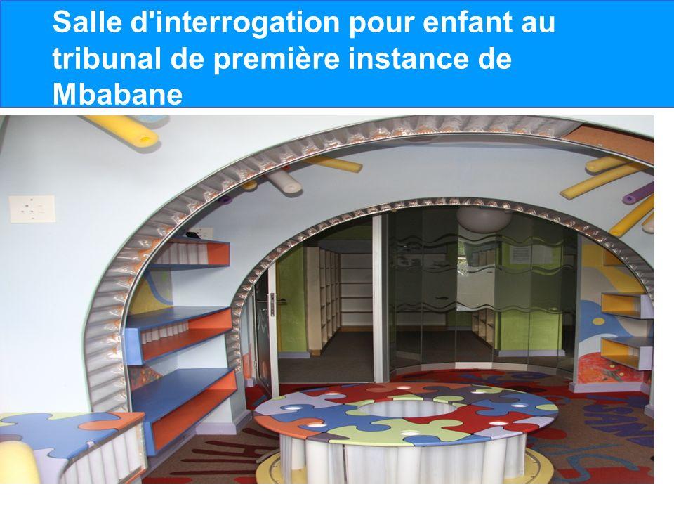 Salle d'interrogation pour enfant au tribunal de première instance de Mbabane