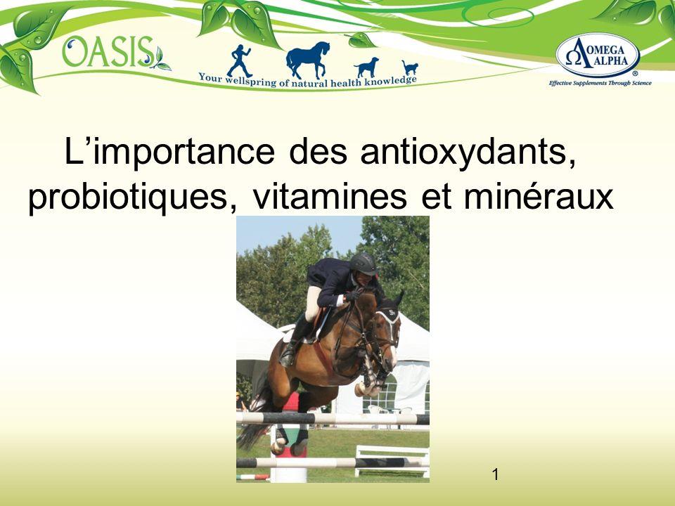 1 Limportance des antioxydants, probiotiques, vitamines et minéraux
