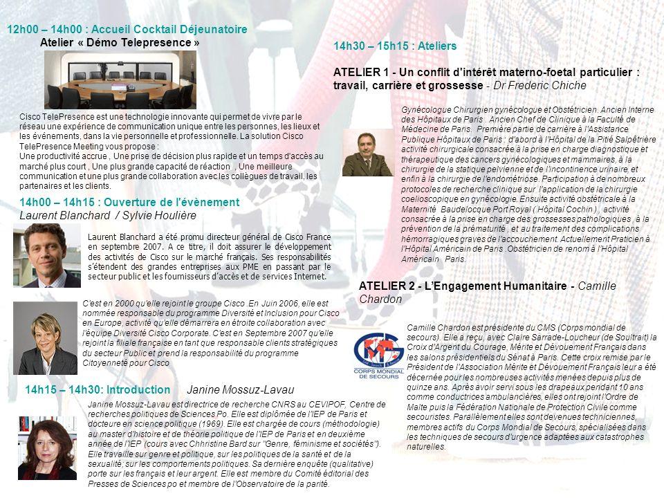 14h00 – 14h15 : Ouverture de l'évènement Laurent Blanchard / Sylvie Houlière Laurent Blanchard a été promu directeur général de Cisco France en septem