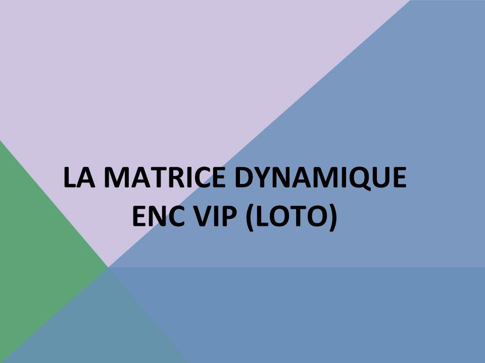 LA MATRICE DYNAMIQUE ENC VIP (LOTO)