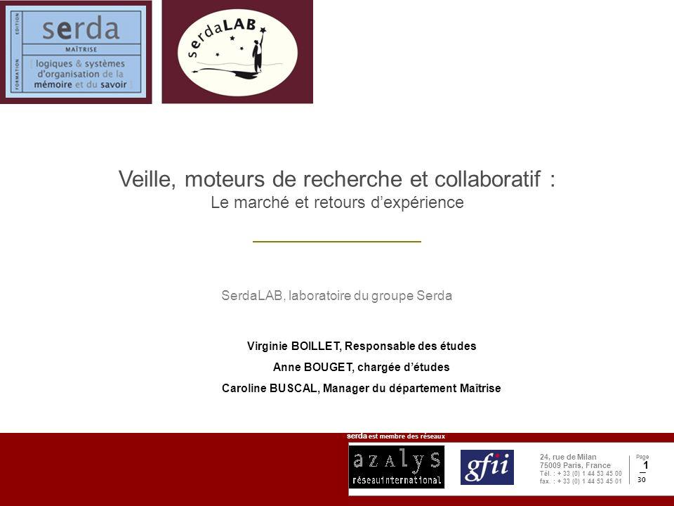 serda est membre des réseaux Page 30 24, rue de Milan 75009 Paris, France Tél.