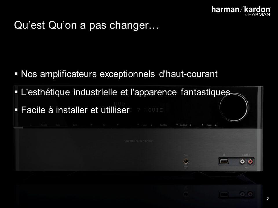 6 Quest Quon a pas changer… Nos amplificateurs exceptionnels d haut-courant L esthétique industrielle et l apparence fantastiques Facile à installer et utilliser