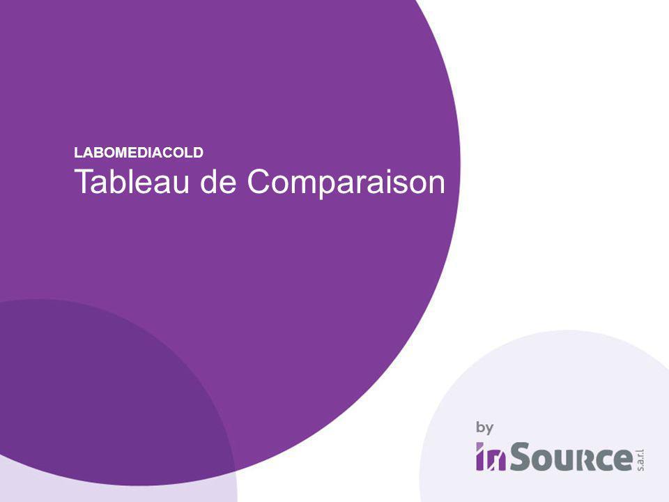 LABOMEDIACOLD Tableau de Comparaison