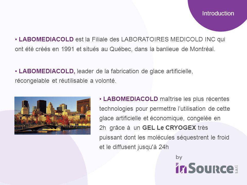 LABOMEDIACOLD est la Filiale des LABORATOIRES MEDICOLD INC qui ont été créés en 1991 et situés au Québec, dans la banlieue de Montréal. LABOMEDIACOLD,