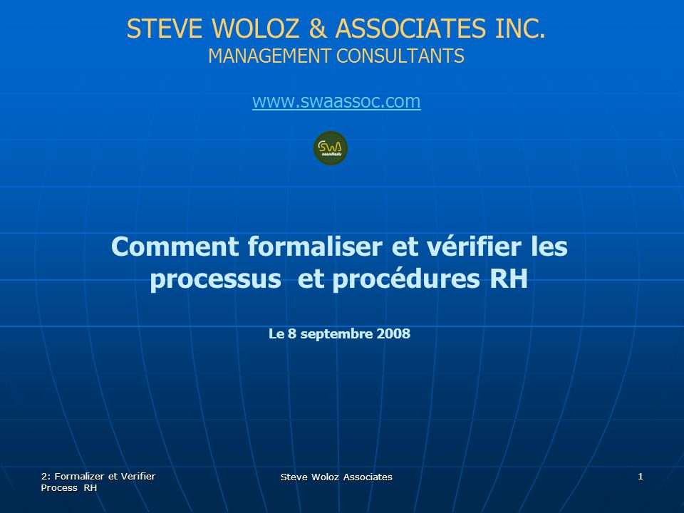 STEVE WOLOZ & ASSOCIATES INC.