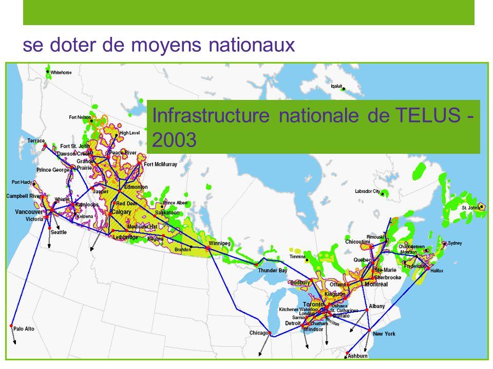 11 se doter de moyens nationaux Infrastructure nationale de TELUS - 2003