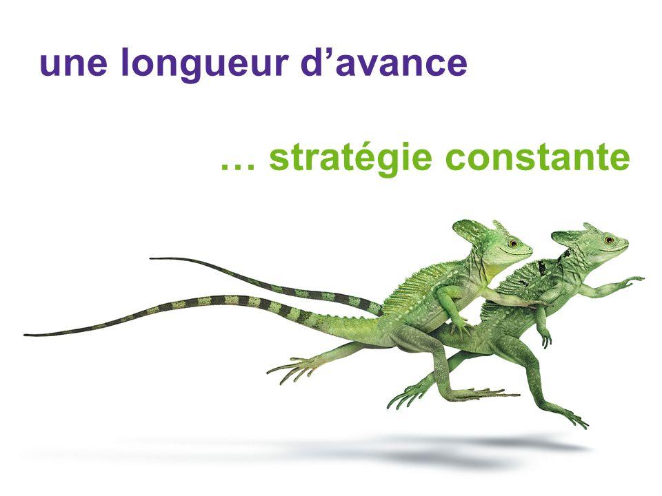 une longueur davance … stratégie constante