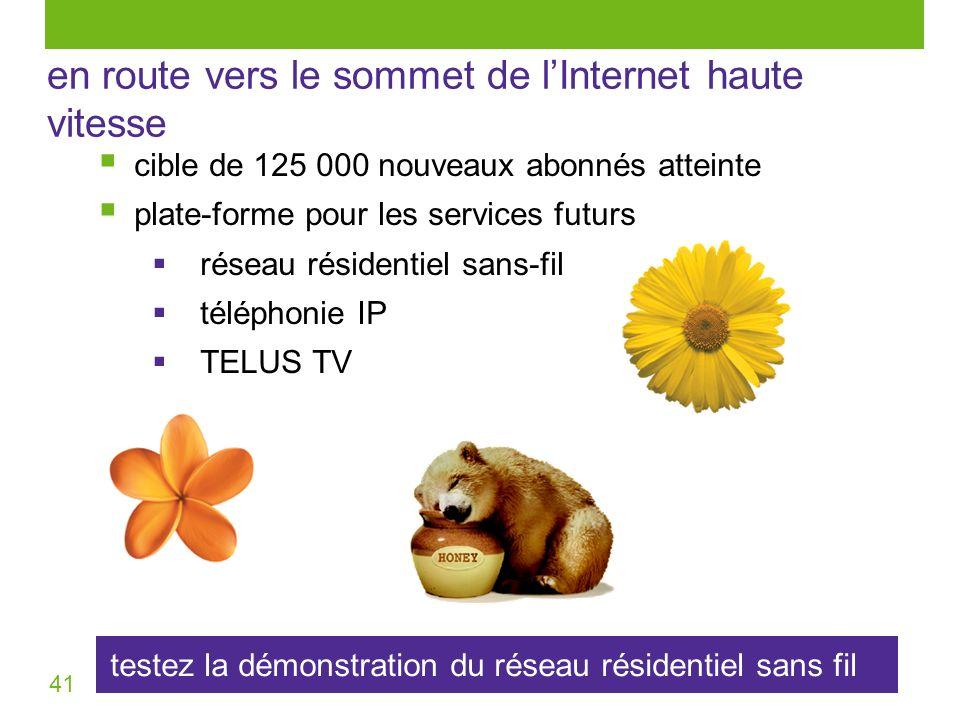 41 testez la démonstration du réseau résidentiel sans fil en route vers le sommet de lInternet haute vitesse cible de 125 000 nouveaux abonnés atteint