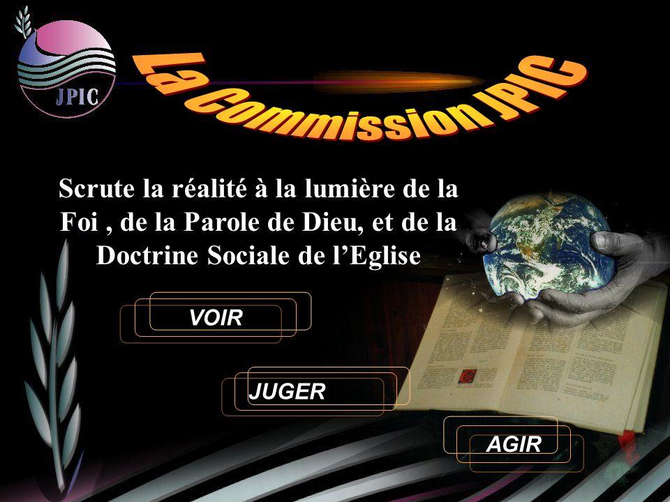 VOIR Scrute la réalité à la lumière de la Foi, de la Parole de Dieu, et de la Doctrine Sociale de lEglise JUGER AGIR