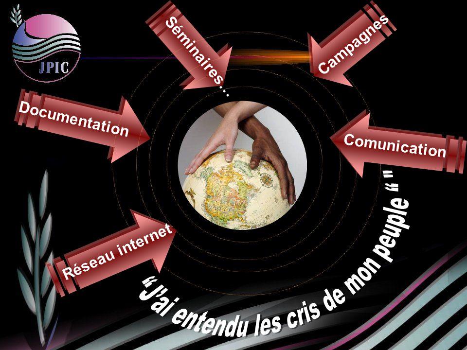 Séminaires… Campagnes Documentation Réseau internet Comunication