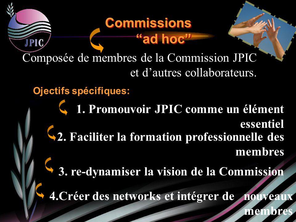 Composée de membres de la Commission JPIC et dautres collaborateurs.