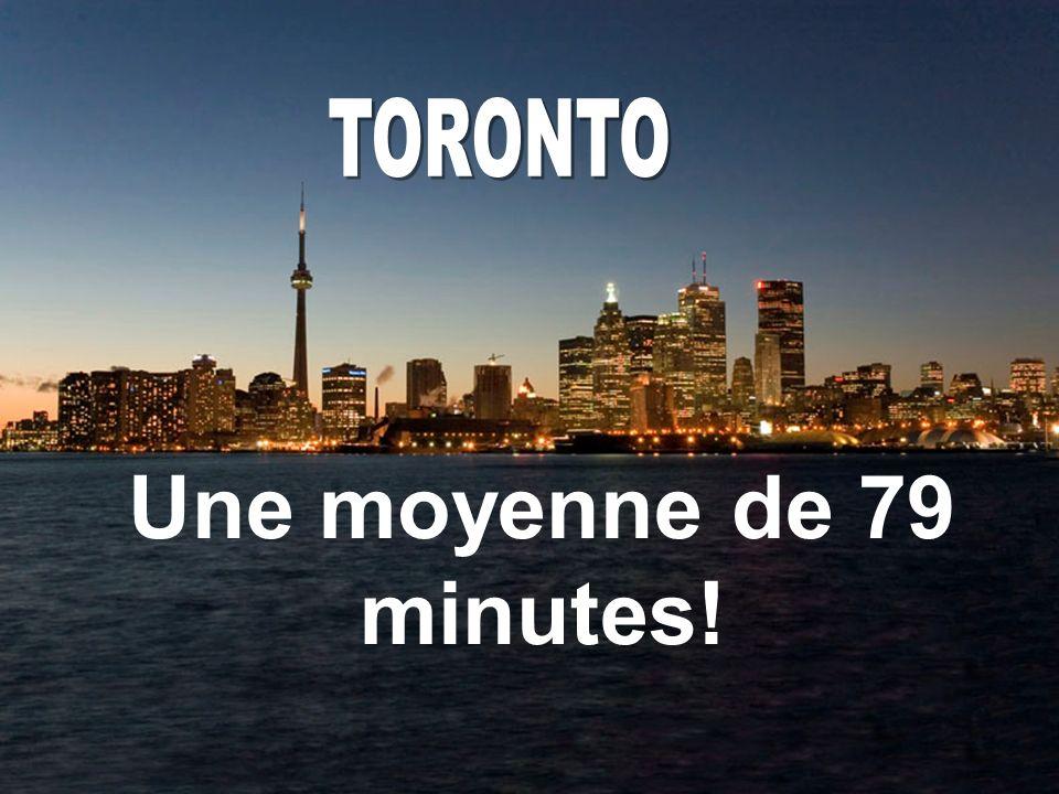 Une moyenne de 79 minutes!