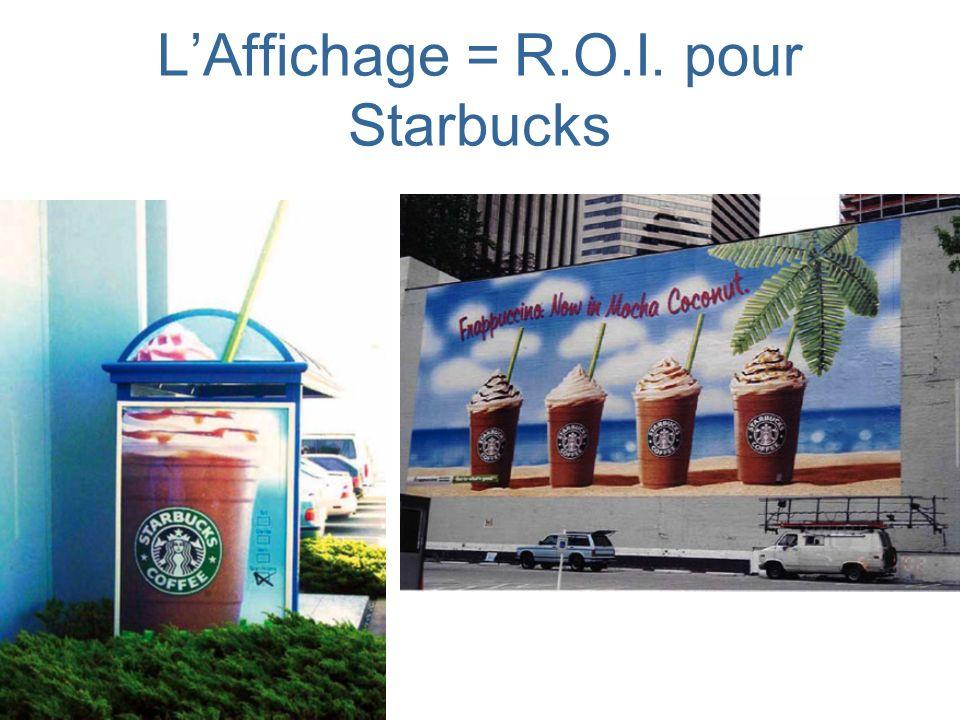 LAffichage = R.O.I. pour Starbucks