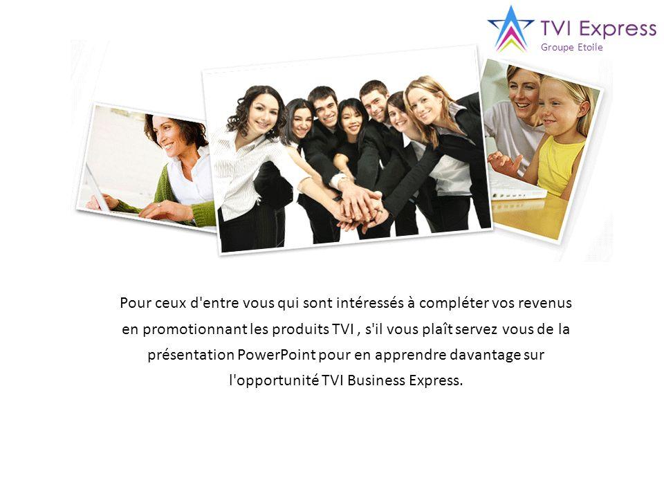 Pour ceux d'entre vous qui sont intéressés à compléter vos revenus en promotionnant les produits TVI, s'il vous plaît servez vous de la présentation P