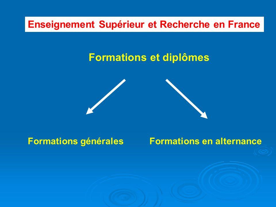 Formations et diplômes Formations généralesFormations en alternance Enseignement Supérieur et Recherche en France