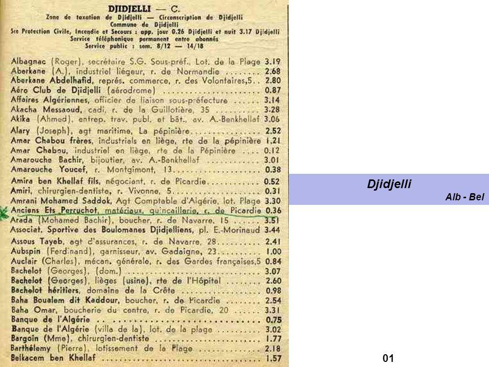 Annuaire de Djidjelli et de sa région 1959 Michel ALBALAT Pierre CAMELEYRE 4-5 octobre 2008