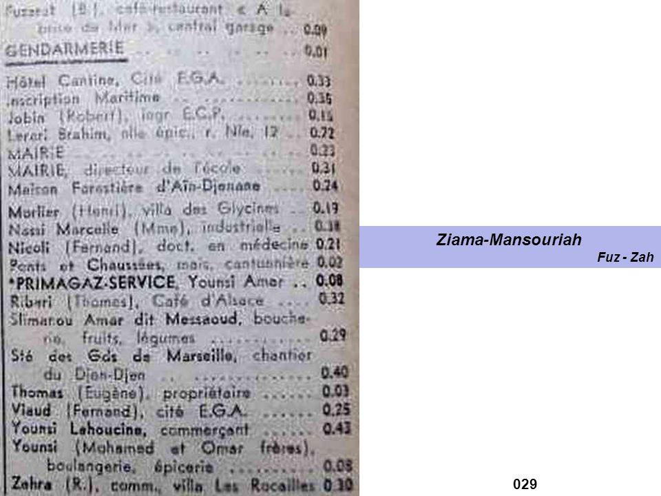 028 Ziama-Mansouriah Aîl - For