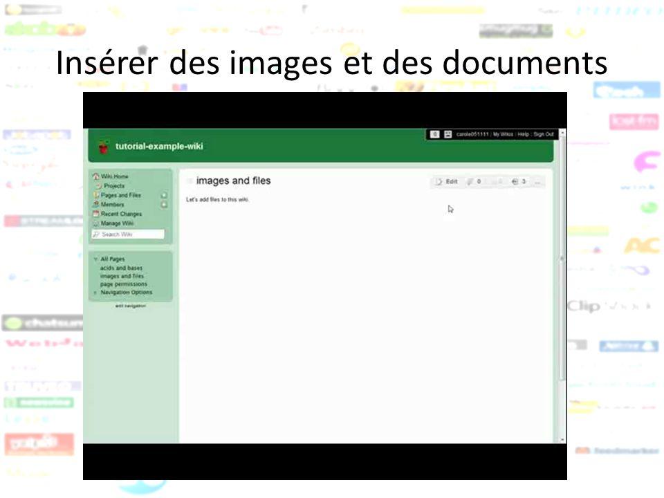 Insérer des images et des documents
