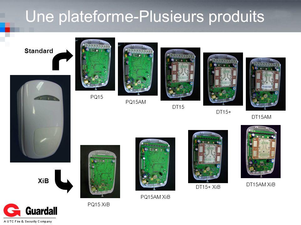 Une plateforme-Plusieurs produits XiB Standard DT15DT15+DT15AM XiBDT15AM DT15+ XiB PQ15AMPQ15 XiBPQ15PQ15AM XiB