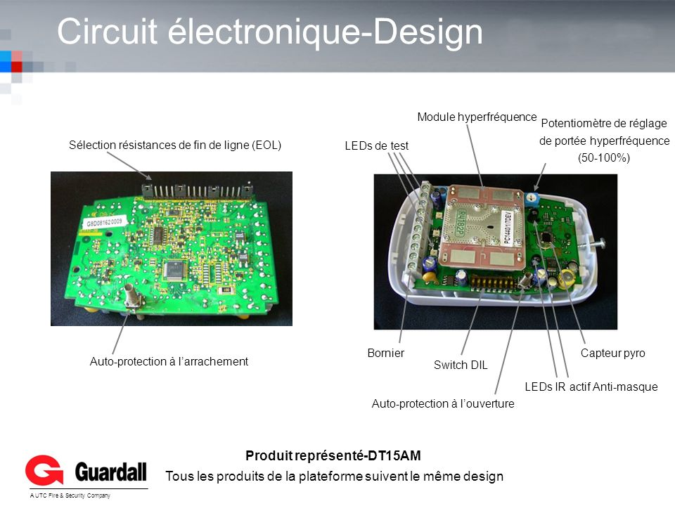 Circuit électronique-Design YOUR LOGO A UTC Fire & Security Company Sélection résistances de fin de ligne (EOL) Auto-protection à larrachement Bornier