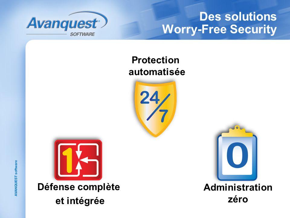 Des solutions Worry-Free Security Protection automatisée Défense complète et intégrée Administration zéro