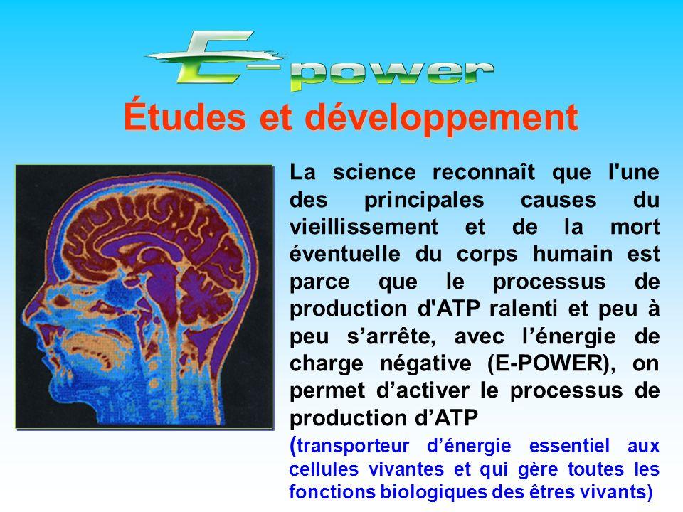 Études et développement La science reconnaît que l'une des principales causes du vieillissement et de la mort éventuelle du corps humain est parce que