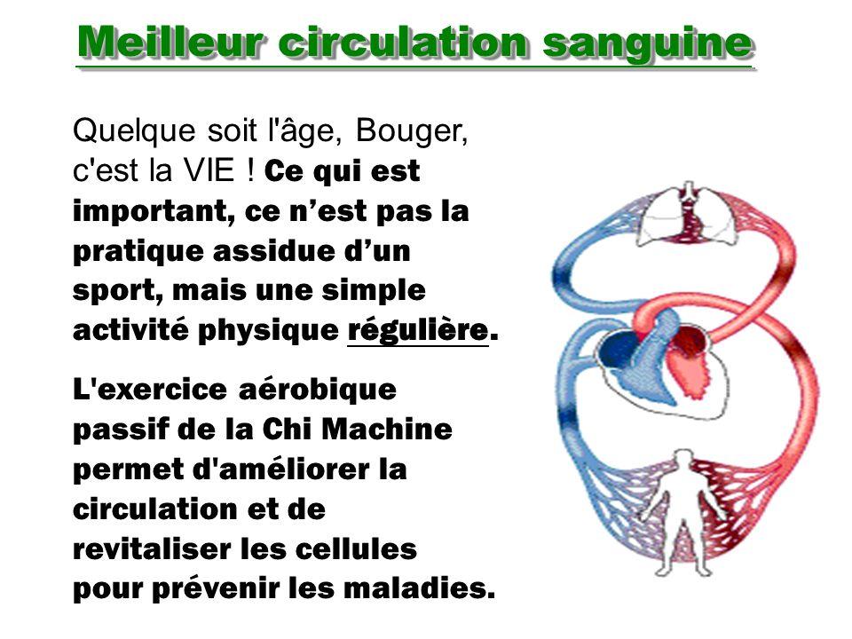 Meilleur circulation sanguine Quelque soit l'âge, Bouger, c'est la VIE ! Ce qui est important, ce nest pas la pratique assidue dun sport, mais une sim