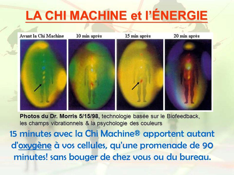LA CHI MACHINE et lÉNERGIE oxygène90 15 minutes avec la Chi Machine® apportent autant d'oxygène à vos cellules, qu'une promenade de 90 minutes! sans b