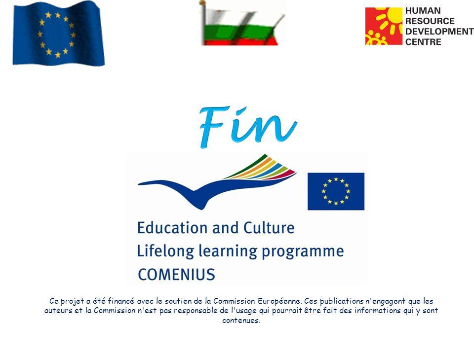Ce projet a été financé avec le soutien de la Commission Européenne. Ces publications n'engagent que les auteurs et la Commission n'est pas responsabl
