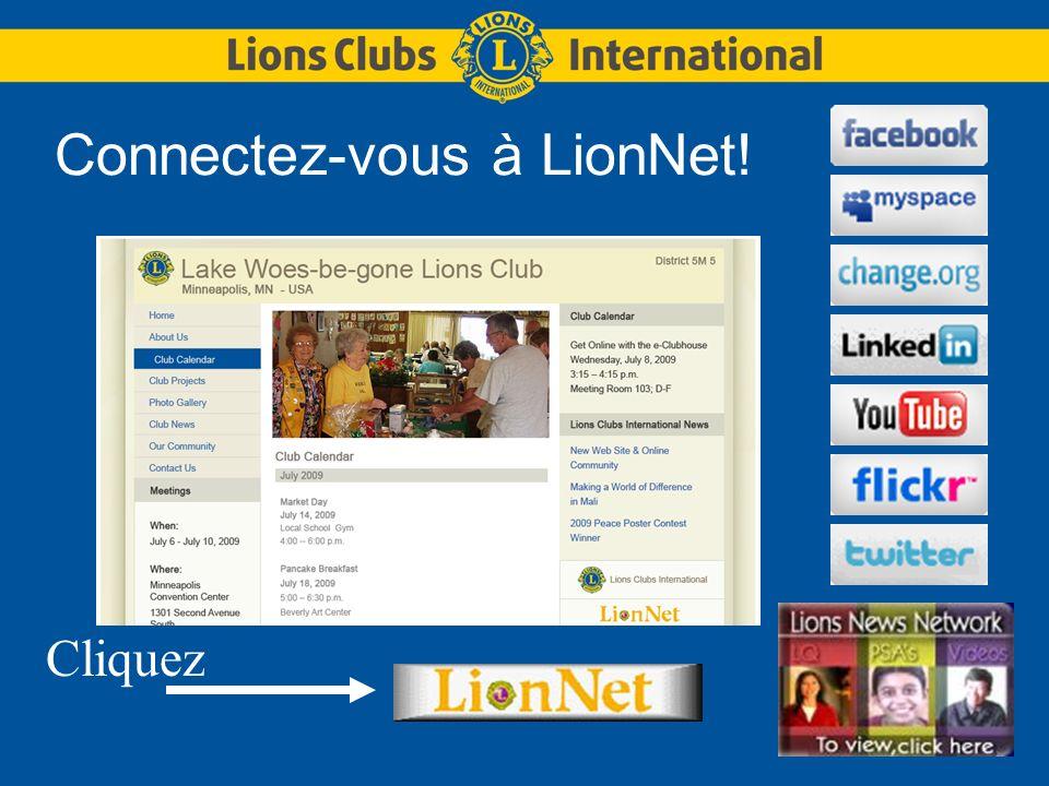 Connectez-vous à LionNet! Cliquez
