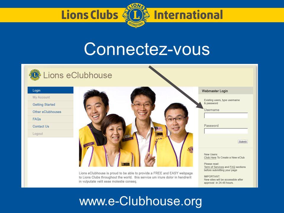 Connectez-vous www.e-Clubhouse.org