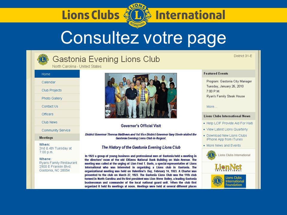 Consultez votre page