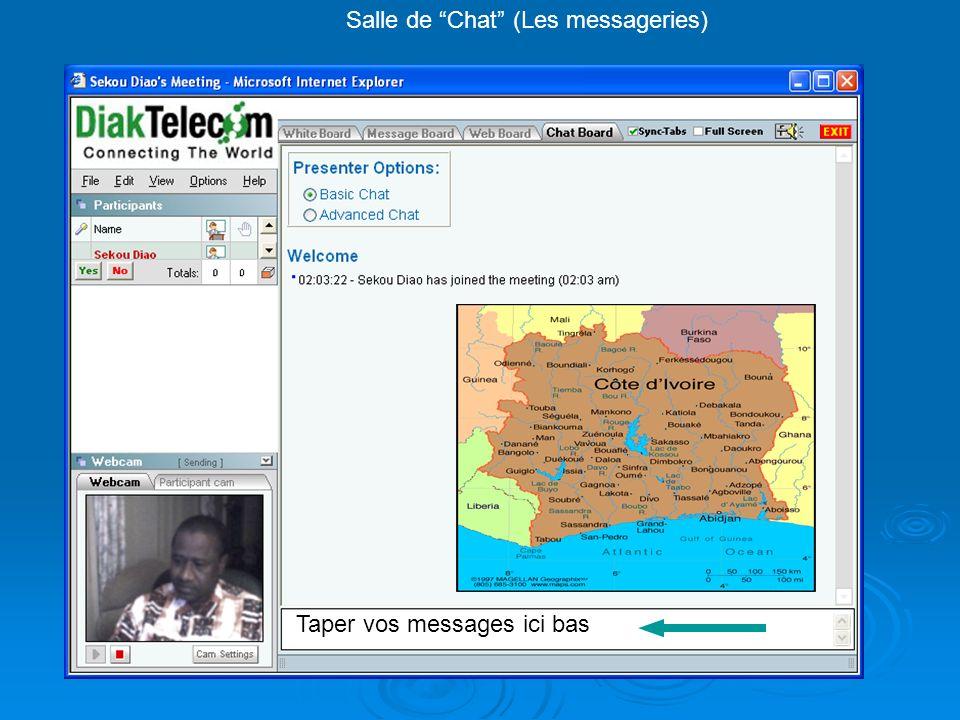 Salle de Chat (Les messageries) Taper vos messages ici bas