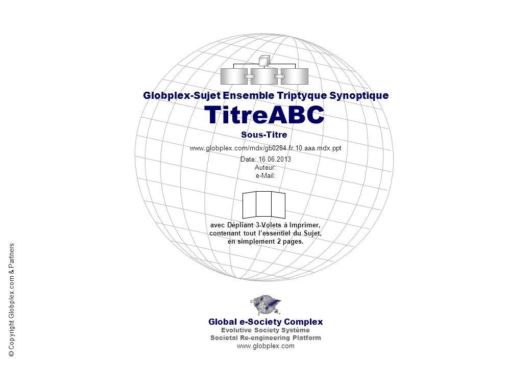 Global e-Society Complex Globplex-Sujet Ensemble Triptyque Synoptique TitreABC Partenaires du Sujet www.globplex.com/mdx/gb0284.fr.10.aaa.mdx.ppt © Copyright Globplex.com & Partners