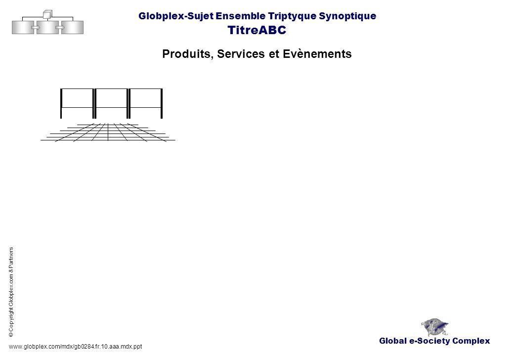 Global e-Society Complex Globplex-Sujet Ensemble Triptyque Synoptique TitreABC Produits, Services et Evènements www.globplex.com/mdx/gb0284.fr.10.aaa.
