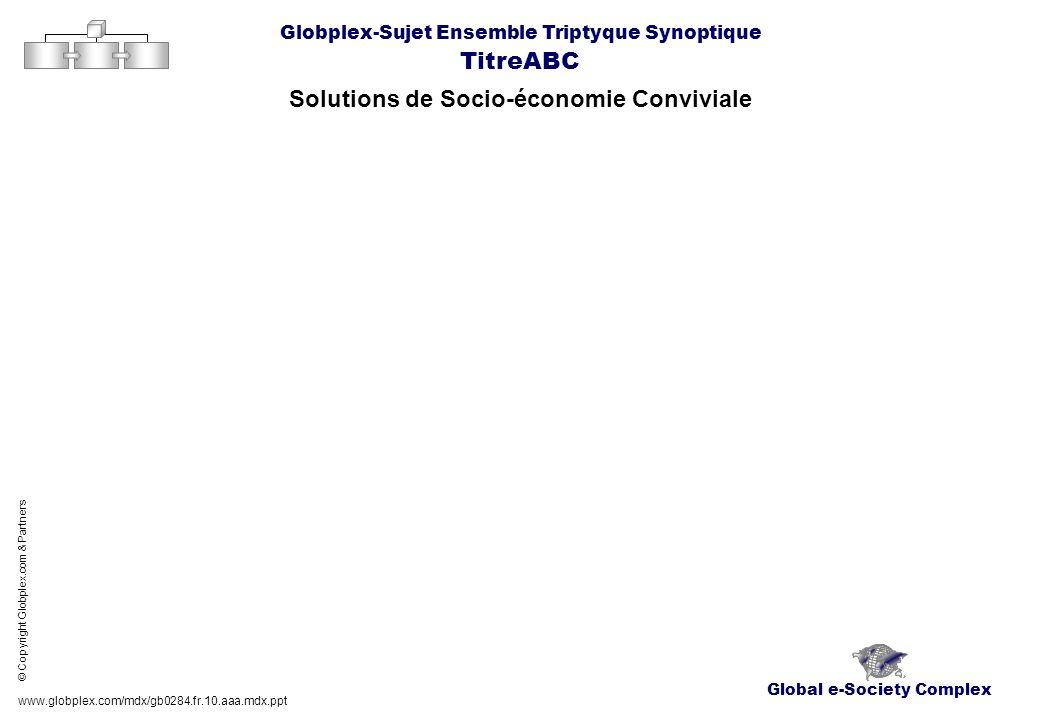 Global e-Society Complex Globplex-Sujet Ensemble Triptyque Synoptique TitreABC Solutions de Socio-économie Conviviale www.globplex.com/mdx/gb0284.fr.1