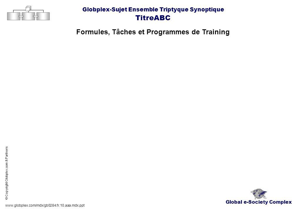 Global e-Society Complex Globplex-Sujet Ensemble Triptyque Synoptique TitreABC Formules, Tâches et Programmes de Training www.globplex.com/mdx/gb0284.