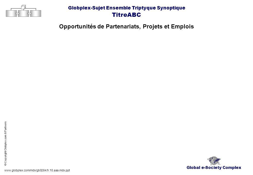 Global e-Society Complex Globplex-Sujet Ensemble Triptyque Synoptique TitreABC Opportunités de Partenariats, Projets et Emplois www.globplex.com/mdx/g