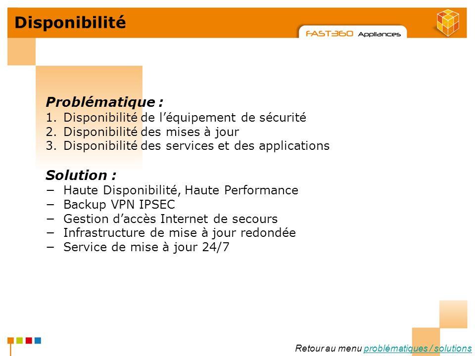 Arkoon Network Security © 2008 Disponibilité Retour au menu problématiques / solutionsproblématiques / solutions Problématique : 1.Disponibilité de lé
