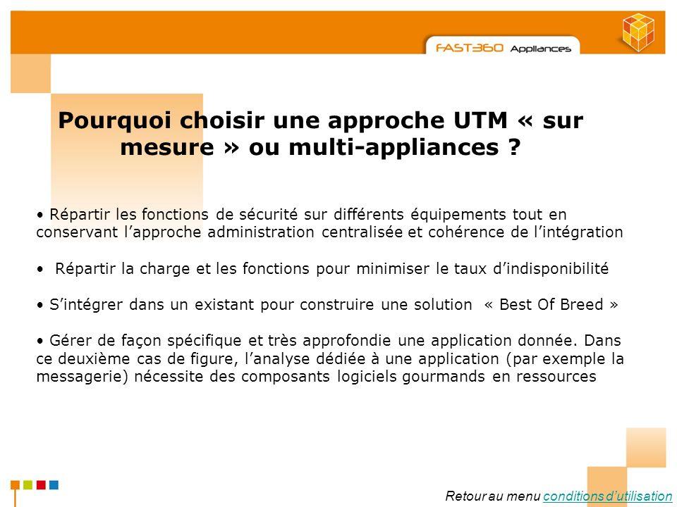 Arkoon Network Security © 2008 Pourquoi choisir une approche UTM « sur mesure » ou multi-appliances ? Répartir les fonctions de sécurité sur différent