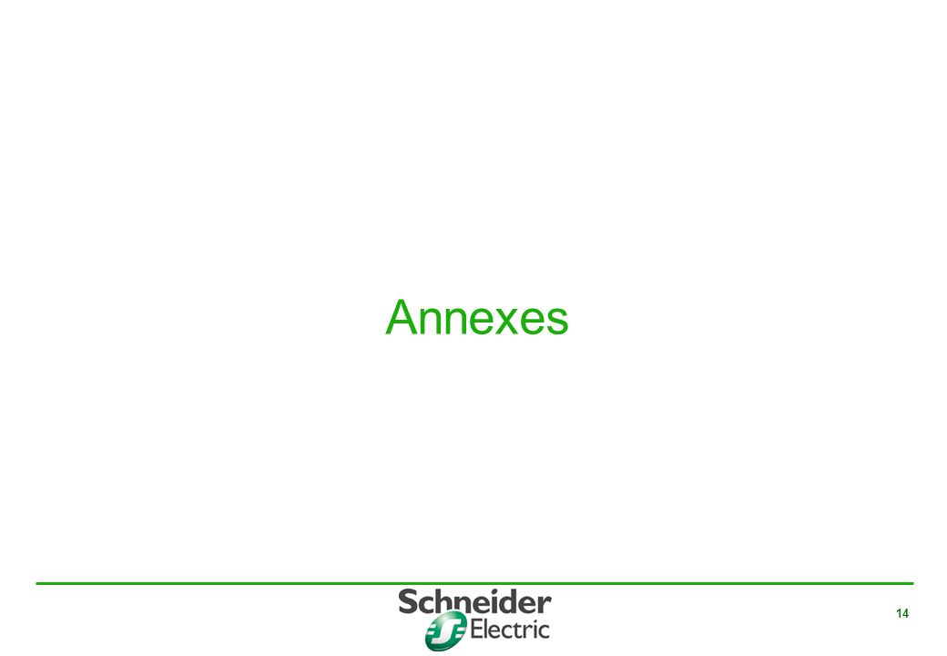 14 Annexes