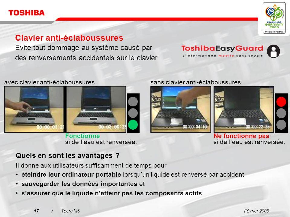 Février 200616/Tecra M5 Protection en caoutchouc autour du fragile inverseur Languettes en caoutchouc autour du lecteur de disque dur pour un meilleur