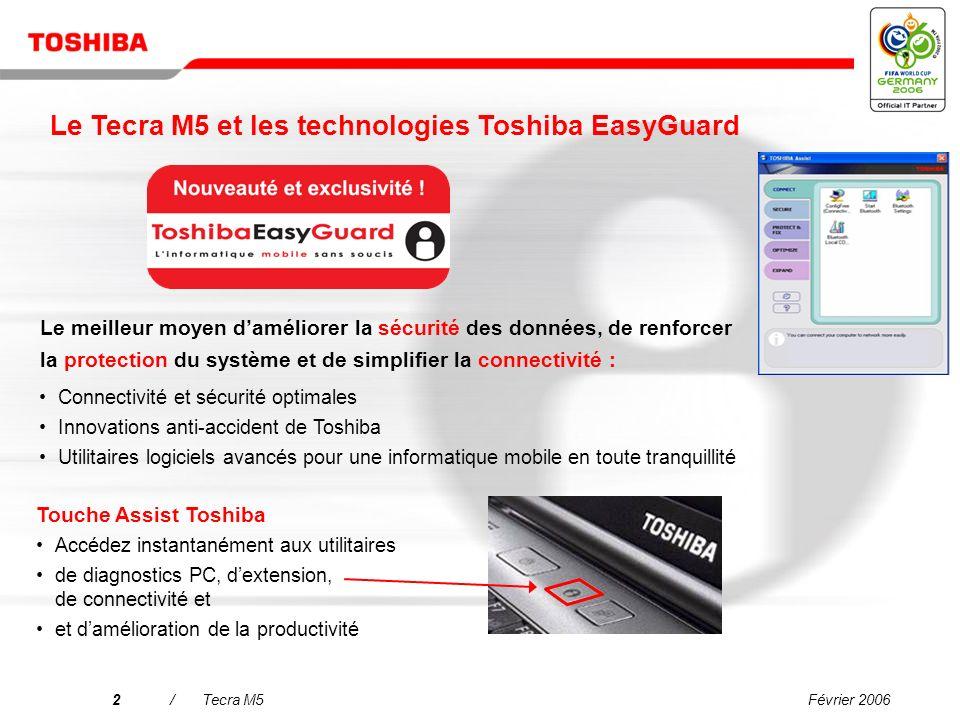 Copyright © 2006 Toshiba Corporation. Tous droits réservés. Tecra M5 Lordinateur idéal pour les professionnels exigeants Présentation commerciale
