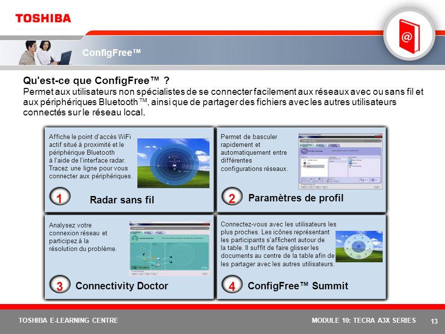 12 TOSHIBA E-LEARNING CENTREMODULE 10: TECRA A3X SERIES Temporisateur de protection contre le vol Toshiba Qu'est-ce que le temporisateur de protection